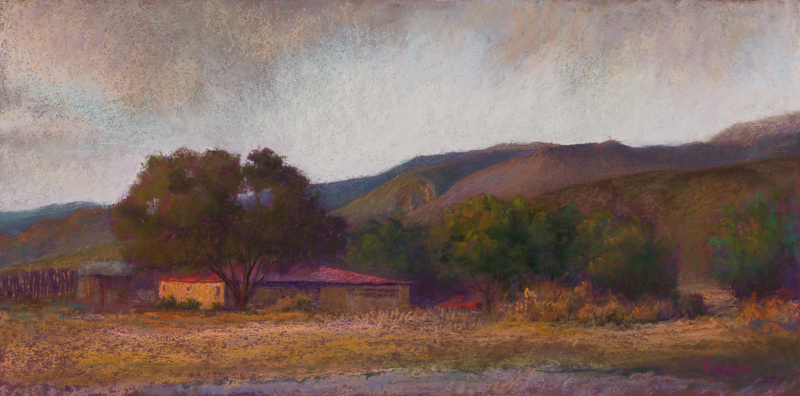 southwest evening - pastel